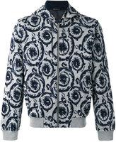 Versace embroidered hooded sweatshirt - men - Cotton/Polyamide/Polyester/Viscose - S