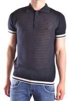 Daniele Alessandrini Men's Blue Cotton Polo Shirt.