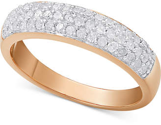 Diamond Pave Ring (1/2 ct. t.w.) in sterling silver, 18k gold-plated sterling silver or 18k rose gold-plated sterling silver