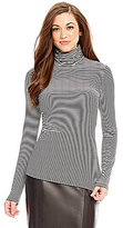 Antonio Melani Leonardo Striped Knit Turtleneck