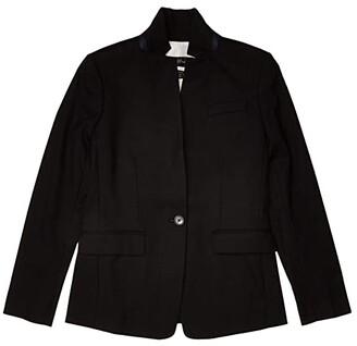 J.Crew Regent Blazer in Wool Flannel (Black) Women's Clothing