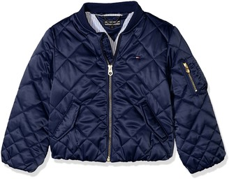 Tommy Hilfiger Girl's Thkg Quilted Bomber Jacket