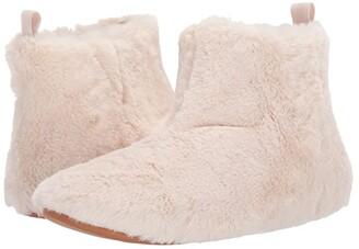 FitFlop Furry Slipper Bootie (Mink) Women's Slippers