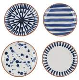 Lulu & Georgia Shibori Assorted Porto Appetizer Plates (Set of 4)