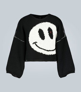 Raf Simons Cropped wool knit sweater