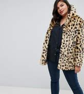 Asos Faux Fur Coat in Leopard