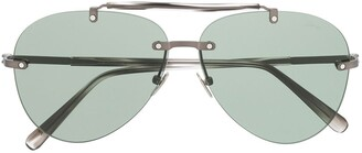 Brioni tinted aviator sunglasses
