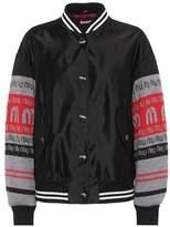 Miu Miu Satin and wool varsity jacket