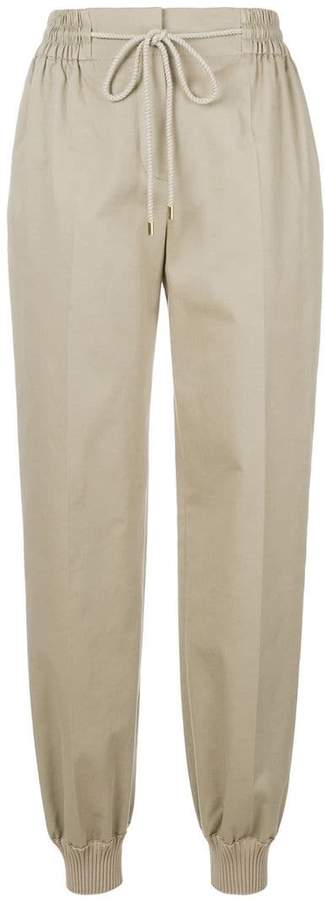 Alberta Ferretti drawstring fitted trousers