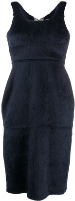 Ambush Faux-Fur Sleeveless Dress