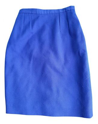 Kenzo Blue Wool Skirts
