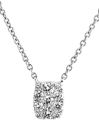 Bony Levy Mika Mini Rectangle Pave Diamond Pendant Necklace