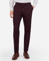 Express Classic Merlot Cotton Sateen Stretch Suit Pant