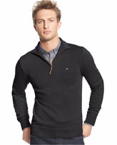Tommy Hilfiger Signature Solid Quarter-Zip Sweater