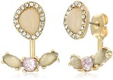 "lonna & lilly Touch of Twilight"" Gold-Tone/White Floater Earrings Jackets"
