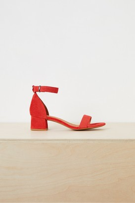 French Connection Karla Suede Block Heel Shoes