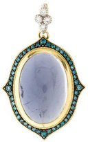 Jude Frances 18K Iolite & Blue Diamond Pendant