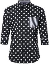 GUILD PRIME stripes and spots shirt - men - Cotton - 1