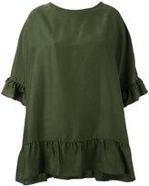 P.A.R.O.S.H. ruffled shift blouse - women - Silk - XS