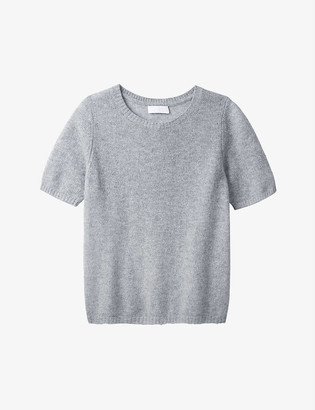 The White Company Layering round-neck cashmere T-shirt