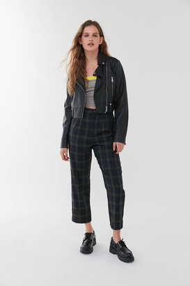Urban Renewal Vintage Remnants Plaid High-Waisted Straight Leg Trouser Pant