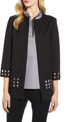 Ming Wang Grid Cutout Jacket