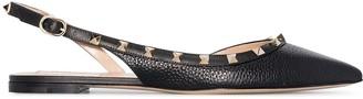 Valentino Rockstud slingback ballerina shoes
