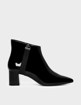 Charles & KeithCharles & Keith Nylon Strap Detail Pointed Boots