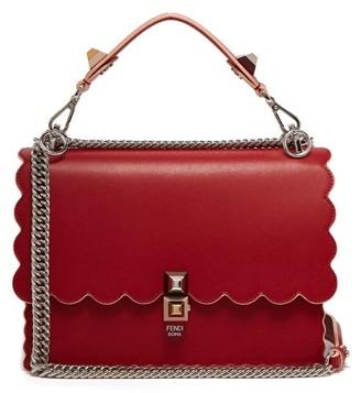 Fendi Kan I Leather Shoulder Bag - Womens - Red