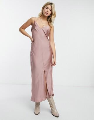 Free People smoke & mirrors maxi cami dress in pink