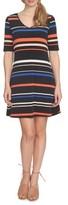 CeCe Women's Stripe Knit Shift Dress