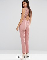 Boohoo Open Back Lace Jumpsuit