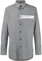 Givenchy gingham print zip front shirt