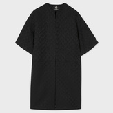 Paul Smith Women's Black 'Chain-Link Heart' Jacquard Coat