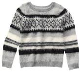 Crazy 8 Fuzzy Fair Isle Sweater