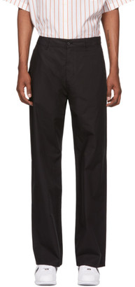 Hope Black Jacquard Wind Trousers