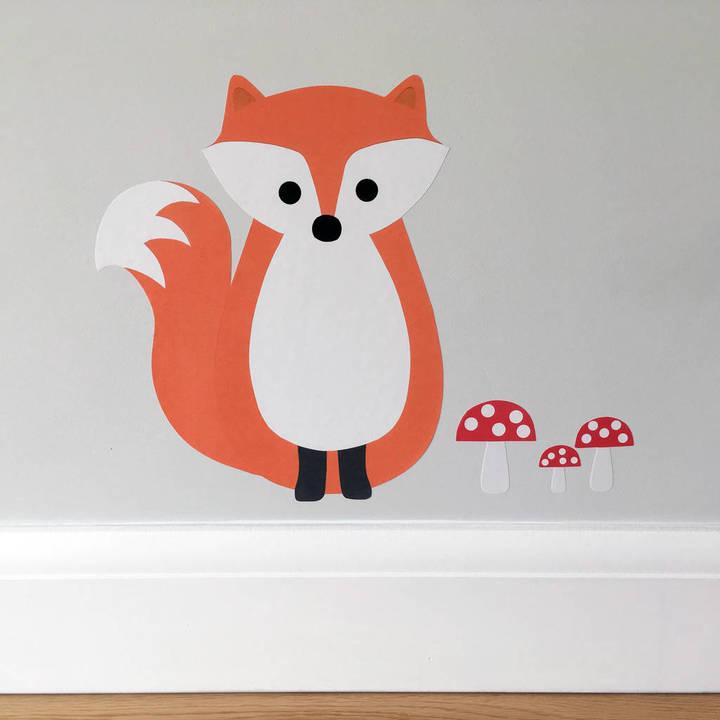 Chameleon Wall Art Fox Wall Sticker