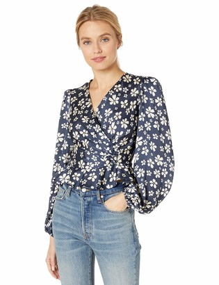 Jill by Jill Stuart Women's Wrap Top Marianne Print