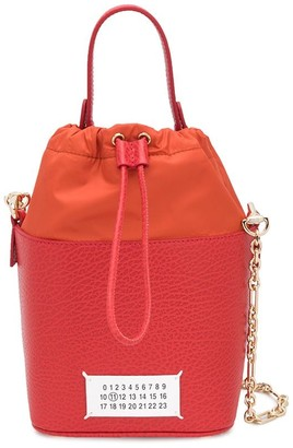 Maison Margiela Textured-Leather Bucket Bag
