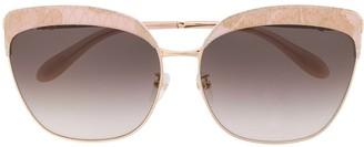 Blumarine Lace Detail Butterfly Sunglasses