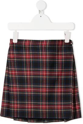 Dolce & Gabbana Kids Check Pattern Mini Skirt