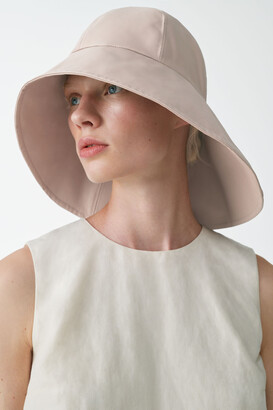 Cos Leather Hat With Wide Brim