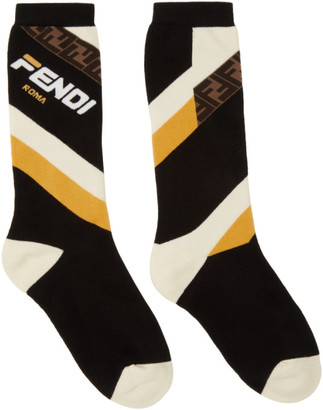 Fendi Black Mania Socks