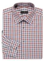 Ike Behar Regular-Fit Check Button-Front Shirt