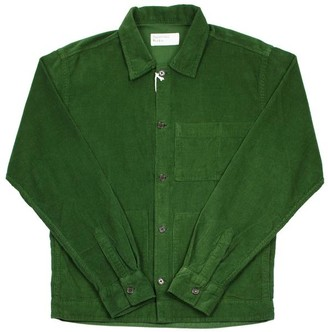 Universal Works Uniform Shirt Fine Cord Green - M
