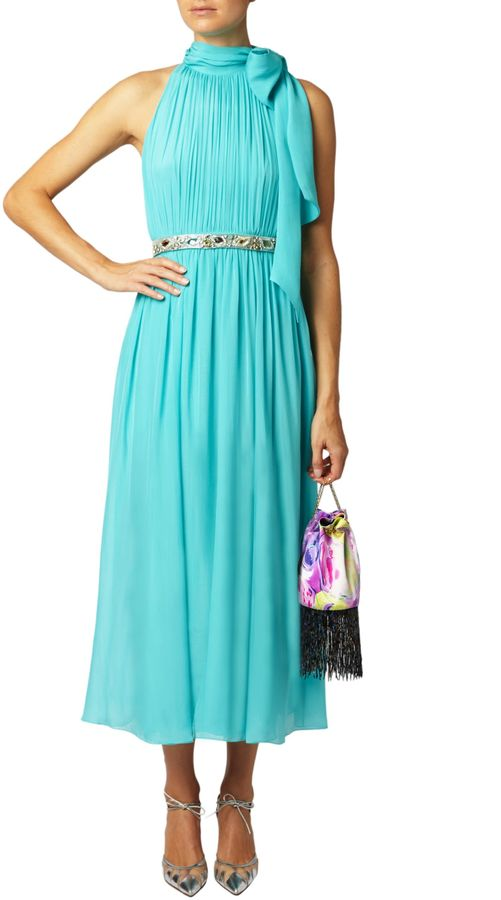 Matthew Williamson Turquoise Blue Beaded Belt