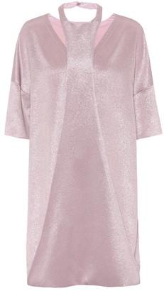 Valentino Metallic crepe minidress