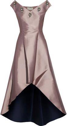 Sachin + Babi Alexandra Embellished Duchesse Satin-twill Dress