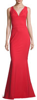 La Petite Robe di Chiara Boni Sleeveless Stretch Jersey Mermaid Gown, Passion