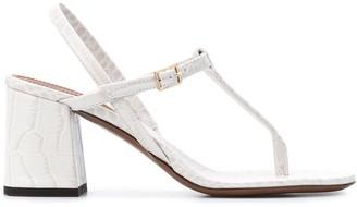 L'Autre Chose Croco-Effect Sandals
